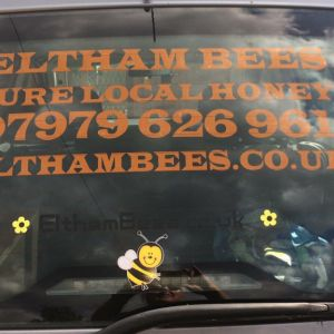 new logo on bee car
